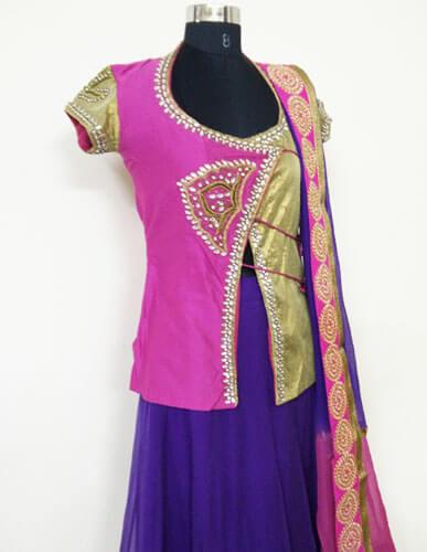Exclusive Designer Pink Lehenga 2
