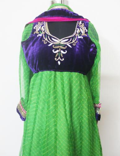 Green Anarkali Designer Suit 1