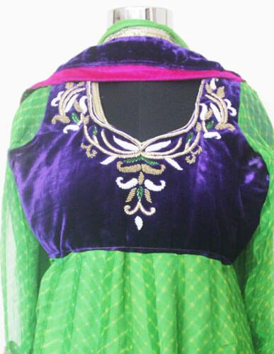 Green Anarkali Designer Suit 3