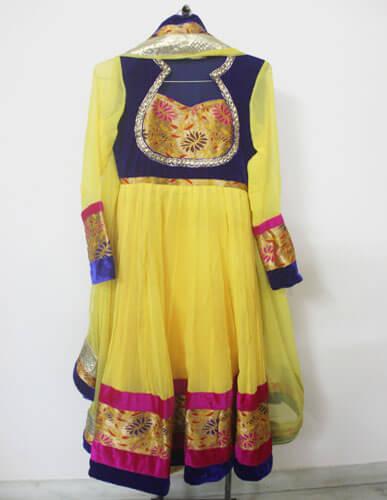 Yellow Designer Anarkali 1
