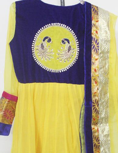Yellow Designer Anarkali 2