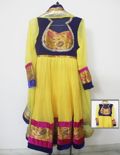 Yellow-Designer-anarkali-suit